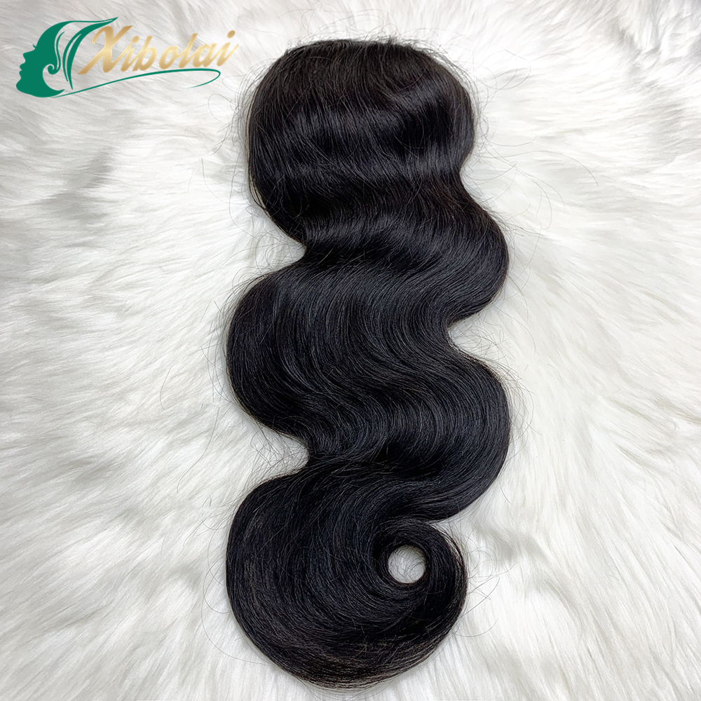 JCXBL 100% Virgin Human Hair Ponytail Extension,Raw MInk Brazilian Double Weft Body/Deep/Water Wave Virgin Cuticle Aligned Hair