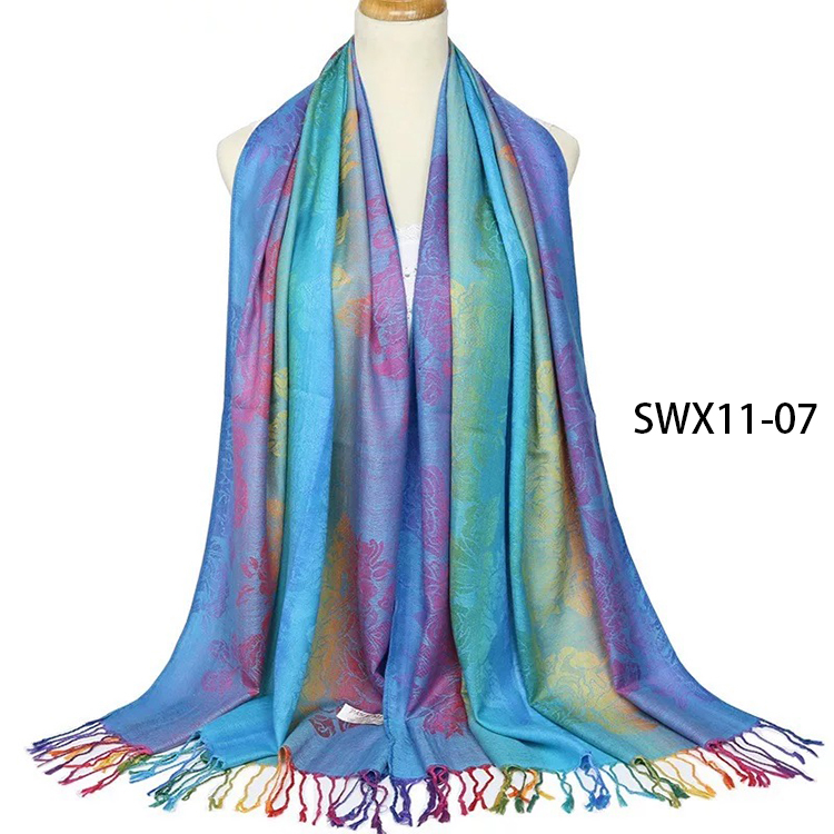 2020 New Spring Woven Cotton Scarf Fashion Gift Women Warm Shawl Scarves