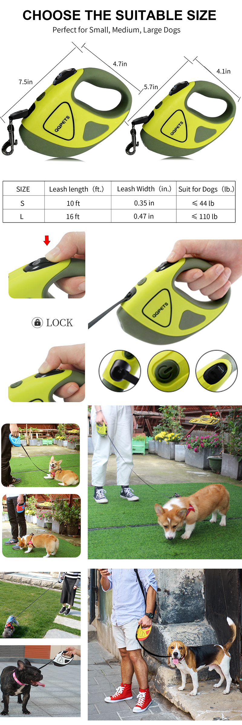 Flexible pets accessories led lighted retractable nylon dog leash