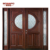 main door design with glass and solid wood for flats