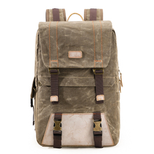Manufactory Large Capacity Waterproof Waxed Canvas Unisex Dslr Camera Backpack Photography Equipment Backpack