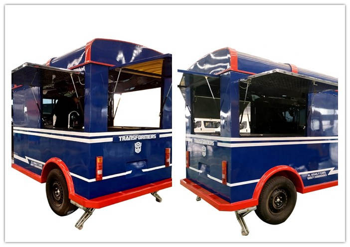Multi-function Transformers type mobile fast food truck