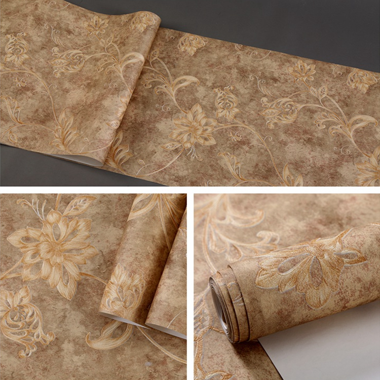High quality design 3D relief decorative wallpaper living room dining room non-woven wallpaper