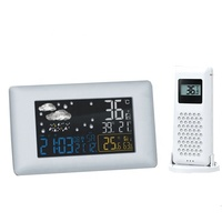 KH-WL008 Indoor Outdoor Digital LCD Display Time Digital Wireless Weather Station Wirelem Atomic Clock
