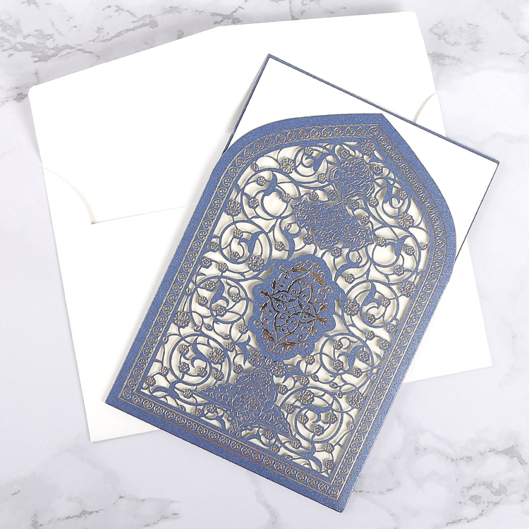 Muslim marriage / engagement paper luxury india wedding invitation <strong>card</strong>