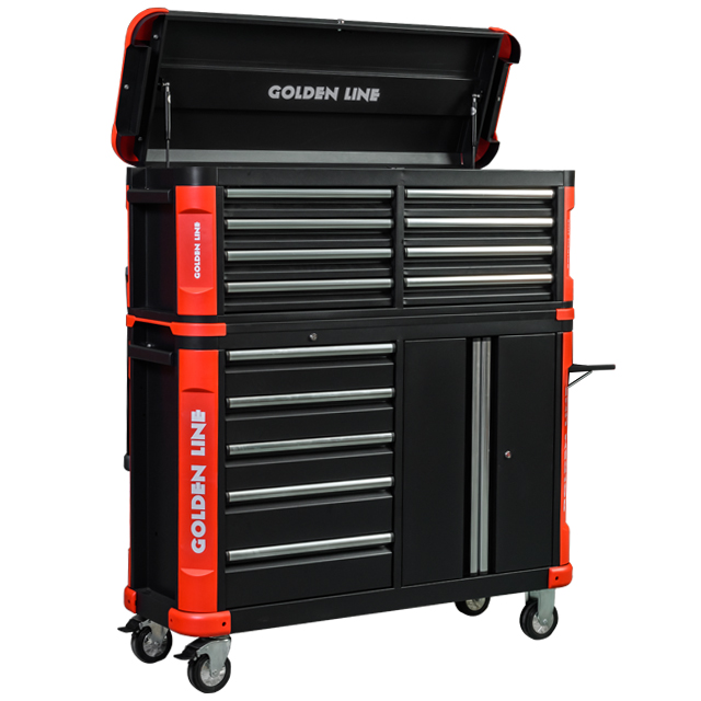 Professional 13 Drawers steel Tool box Cabinet With Tools Sets