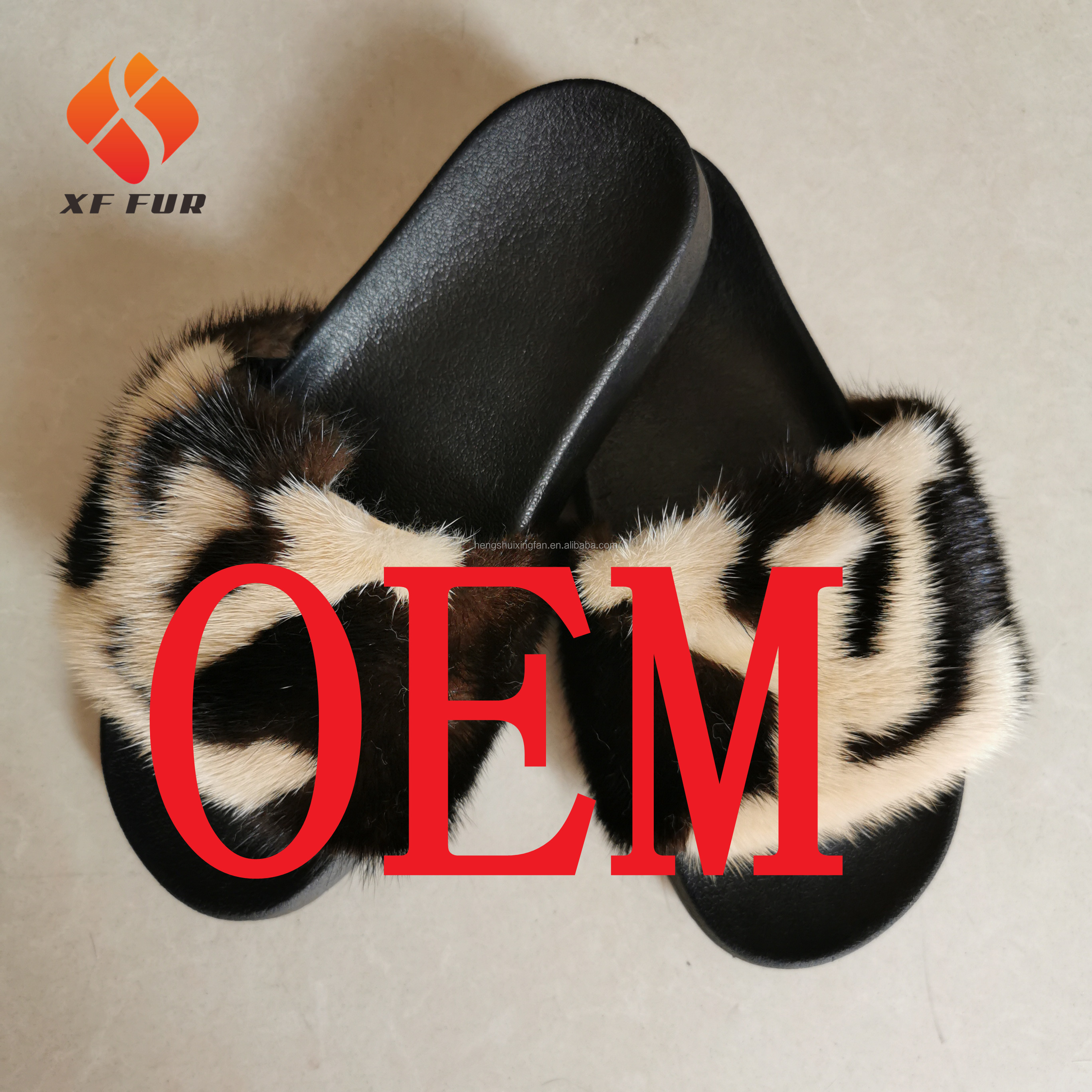 Multicolor women fur slides <strong>slipper</strong> fashion fox fur <strong>slippers</strong> with logo customized