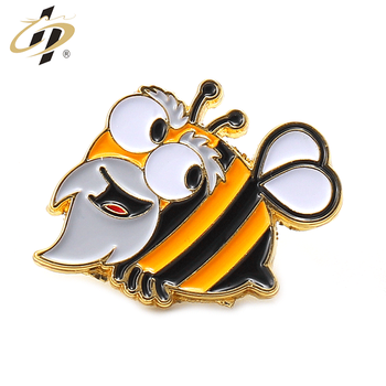 Wholesale metal soft enamel gold funny insect metal lapel pins