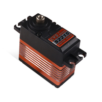 15KG Stall Torque Coreless Motor HV Digital Servo for RC Car Helicopter, Standard Waterproof Titanium Gear Middle Alloy Case