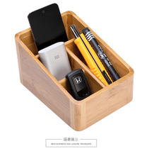 <strong>Bamboo</strong> Remote Control <strong>Holder</strong> - Caddy for Desk, Office, <strong>Pens</strong>, Pencils, Makeup Brushes, Vanity,