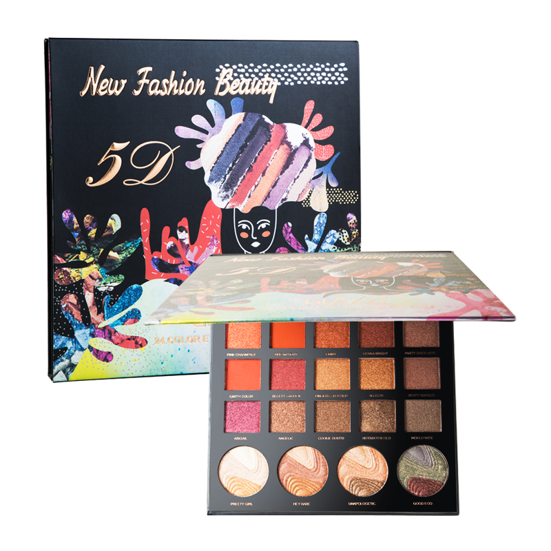 GZ8040086 2019 24 Color Natural Eyeshadow Palette Eye Shadow Make up Palette Set Private Label <strong>Cosmetics</strong>
