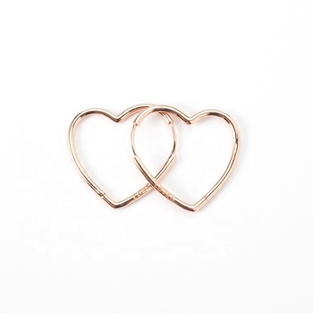 Earrings Gold Plated Jewelry Rose Gold Heart Stud Earrings Heart Earrings