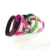 Custom stamped engraved country flag text silicone bracelet wristband
