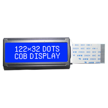 2.5 Inch 5.0V Drive Power Negative STN <strong>122</strong>*32 Dots Chip On Board LCD Display With 6 O'clock Viewing Angle