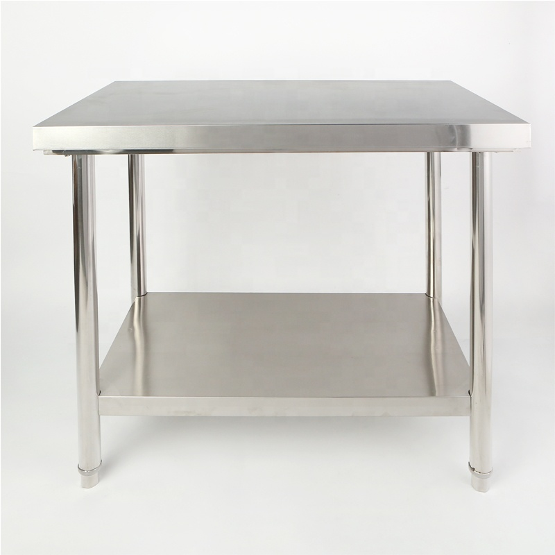 201 or 304 Stainless Steel Commercial Using Restaurant Kitchen Work Table