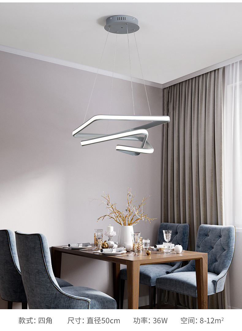2020 new led restaurant chandelier bedroom lamp modern simple light luxury lamps