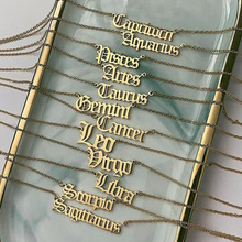 Artilady 2020 Vintage Zodiac Sign Letter <strong>Necklace</strong> For Women Gold Chain Jewelry Gift