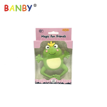 BPA Free 100% Eco-friendly Natural Rubber Frog Teethers for Babies