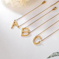 KALEN 14 K Gold Simple Design Initial A-Z Letter Charm Bracelet for Girls