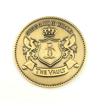 Best quality customized metal souvenir gold the vault challenge coins