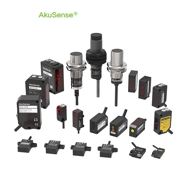 AkuSense  R&d Own Designed 10-30v DC  2M 3 Wriers Cable IP67 Waterproof  14cm Sensing Range Limited Reflection Optical Sensor