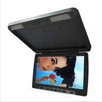 Wide Screen 17inch Flip Down TV monitor HD 1080P MP5 player roof mount monitor With USB/HD, SD Input