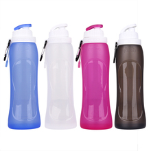 Outdoor <strong>Sports</strong> Drinking Water Bottle Custom Silicone Foldable Bottle 500ML