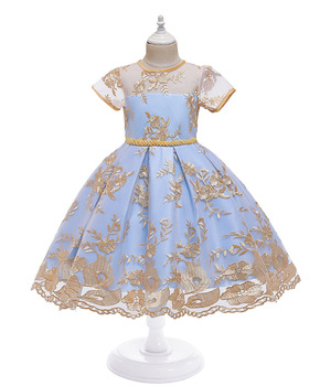Baby girls dresses contrast color girls party dresses sequined princess dresses lace