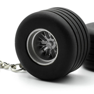 Automobile Thick Rubber Tyre KeyChain Auto Wheel Rim Tire Key ring Chain