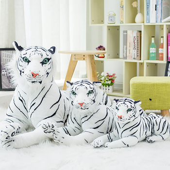high quality pp cotton black white lovely tiger plush toys realistic custom stuffed animal