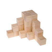 Eco-friendly unfishied baby figure blocks wooden toy building blocks toy for printing