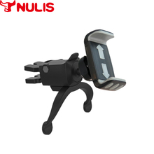 Firm two arm support car vent mobile phone holder high quality custom logo universal car phone holder clip