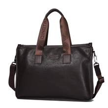 Wholesale large capacity leather bookbag business briefcase <strong>handbag</strong> men