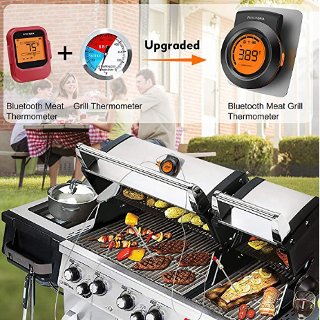 new updated smart 2 in 1 waterproof bluetooth barbecue thermometers for food and grill temperature