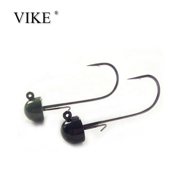 Mushroom -shaped 1/6 oz black tungsten ned rig jig head hooks , half moon Tungsten Jig head