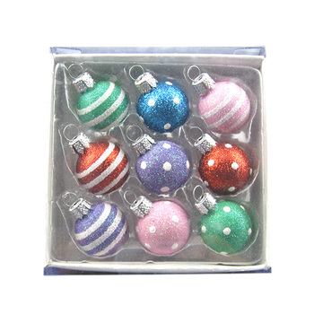 2020 Artdragon Custom Boxed 100 wholesale clear christmas tree ball ornaments ,xmas blown glitter glass ball ornaments set