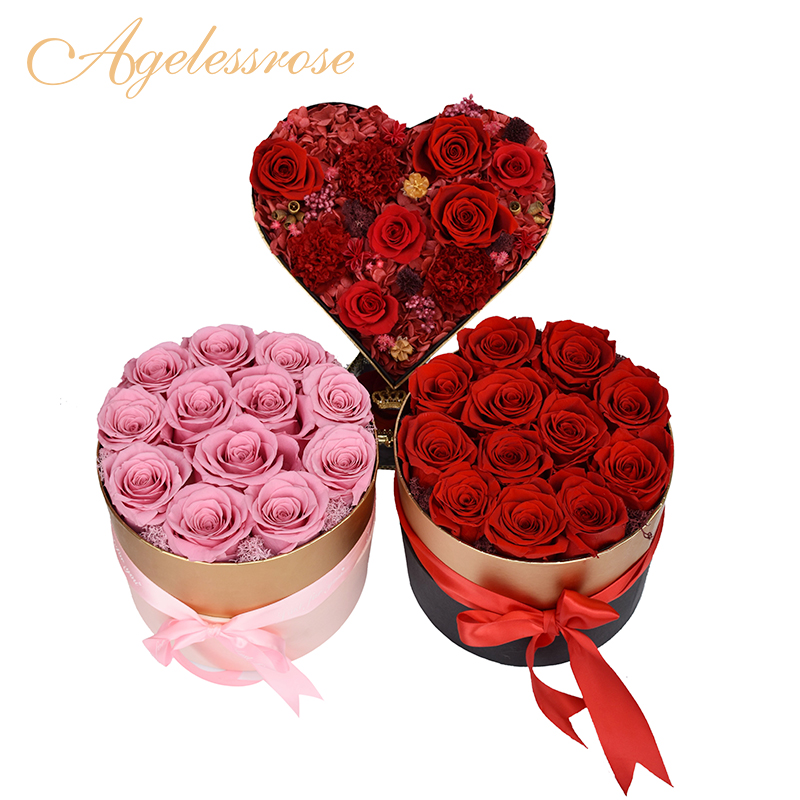 2019 Hot Sale Natural Everlasting flower Romantic gifts everlasting rose flowers wholesale