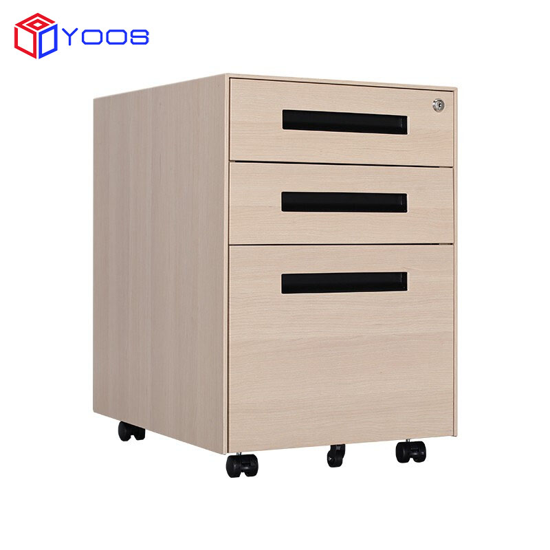 Top quality filing cabinet many small 3 drawers  movable file cabinet drawers