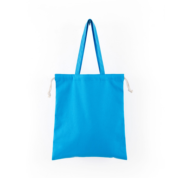Hangzhou Xiwei Custom Printed Small Canvas Cotton Muslin Drawstring Tote Bag
