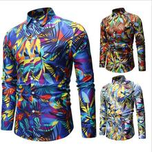 2019 New Arrival <strong>Men's</strong> <strong>Shirts</strong> Plus Size Floral Printed Long Sleeve Cotton Casual Men <strong>Shirt</strong>