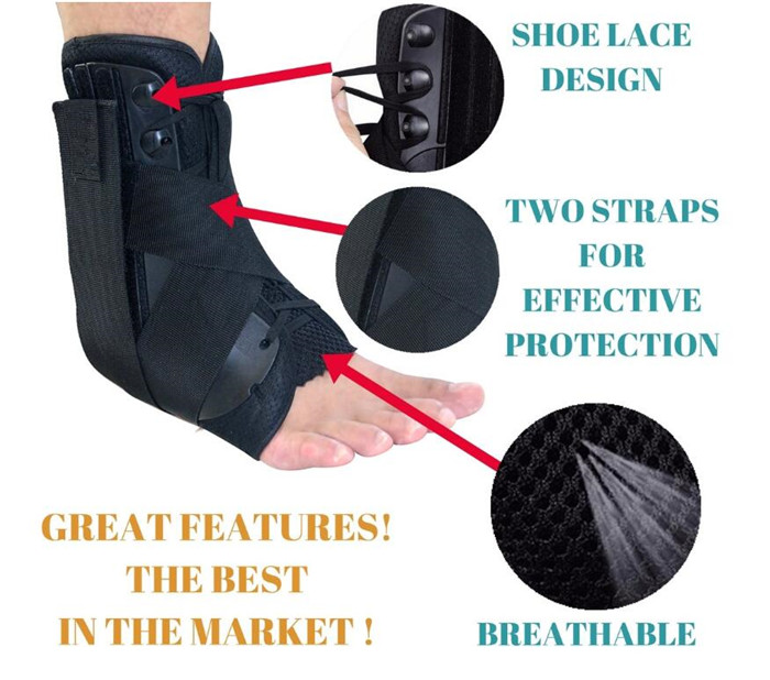 Comfort sport activities Lace Up Ankle Brace Sprained Ankle Stabilizer Support Wrap for weak ankles