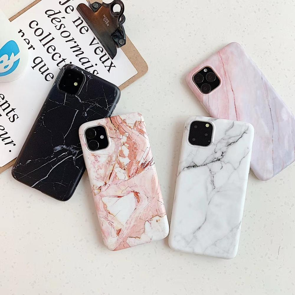 For iPhone 11 Marble Case, Soft TPU Marble Phone Case for iPhone 11 11 Pro 11 Pro Max XS Max XR X XS 8 7 6 Plus