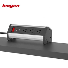 Whosale conference video desk clamp power sockets with 2 usb weatherproof power socket