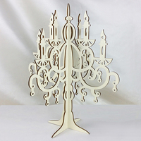 2019 hot sale laser cut crafts wood christmas wooden tree