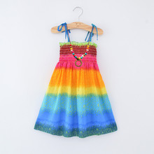 korea style <strong>girl's</strong> <strong>dress</strong> Colorful comfortable skirt worn in summer flower girl <strong>dresses</strong> cotton lace boho <strong>dress</strong>