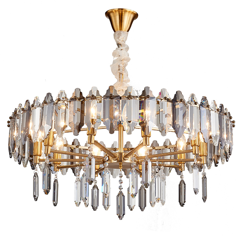 Chinese new <strong>products</strong> decorations 100cm crystal chandelier lighting indoor 12 arms hotel light for 5 star hotel lobby project