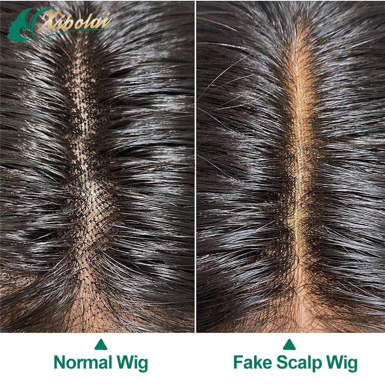 JcXBL New arrival virgin human hair 13x6 lace front wig glueless fake scalp lace wigs for women