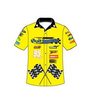 Button Down Wholesale Custom Made Sublimated Motorcycle Staff Uniform Racing Shirts