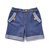 Fashion-Forward Spring Summer Casual Casual Plain Dyed Polyester Cotton Short Pants For Boys