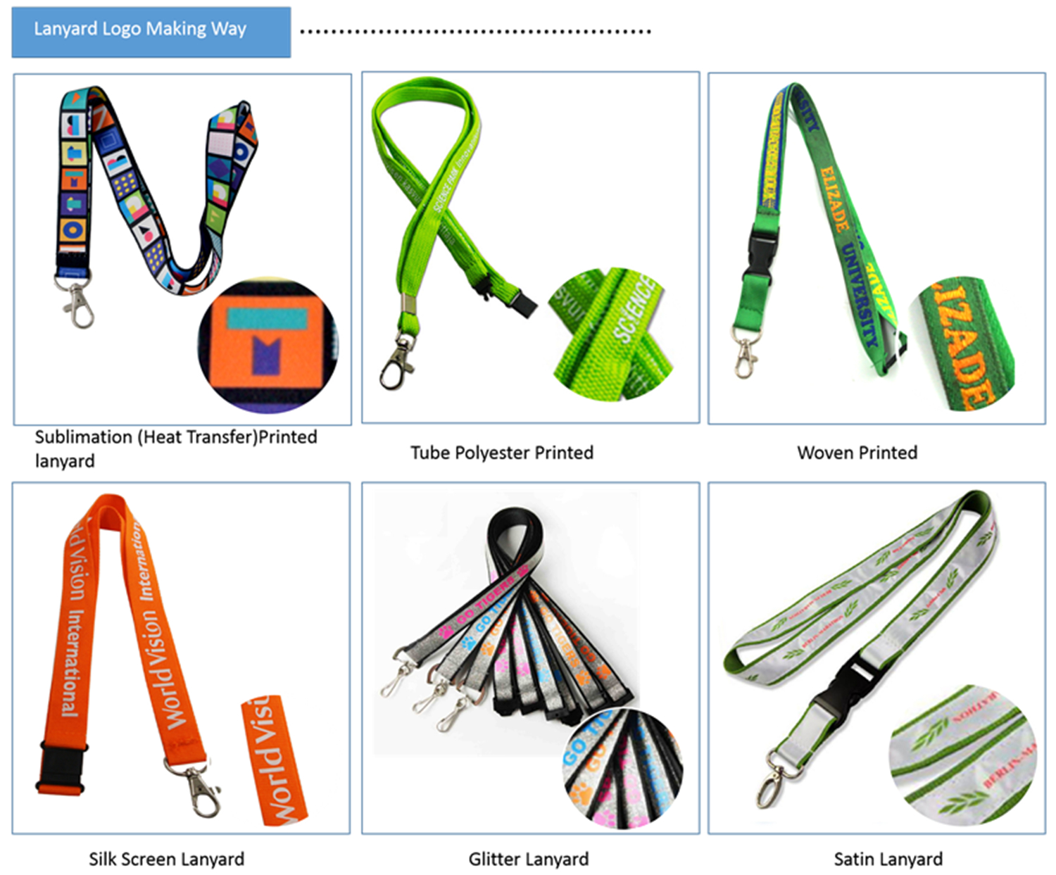 no minimum full color custom lanyards with bulldog clip